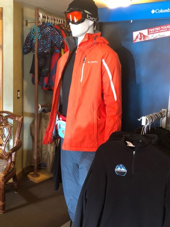 Columbia outfit for rent from Mountain Threads